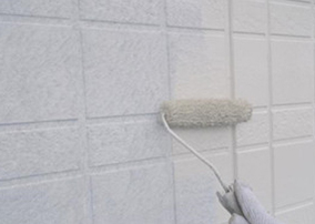 17−1.外壁中塗り(上塗り材1回目)